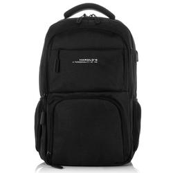 Duży czarny plecak na laptopa harolds 4082
