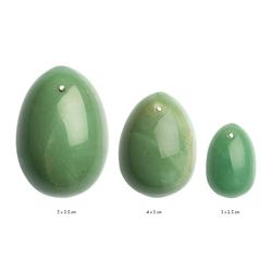 Zestaw kamiennych jajeczek yoni waginalnych - la gemmes yoni egg s-m-l  jadeit