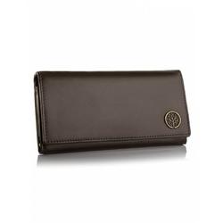 Stylowy damski portfel betlewski bpd-bf-13 brązowy