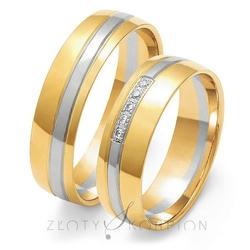 Obrączki ślubne złoty skorpion – wzór au-oe206