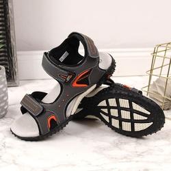 Sandały chłopięce na rzepy szare american club