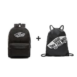 Plecak szkolny vans realm backpack - vn0a3ui6blk + worek szkolny - 23434