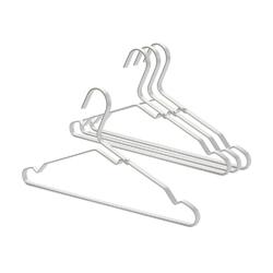 Brabantia - zestaw 4 wieszaków na ubrania, srebrny - srebrny