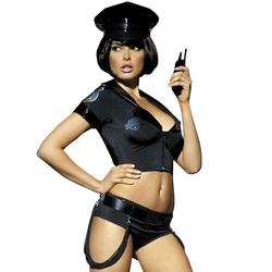Kostium policjantki z szortami obsessive police set costume sm