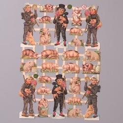 Obrazki scrapooking 24x17 cm - świnki - ŚWI