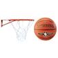 Obręcz do kosza kimet mała 37 cm + piłka do koszykówki spalding nba silver outdoor na zewnątrz orliki