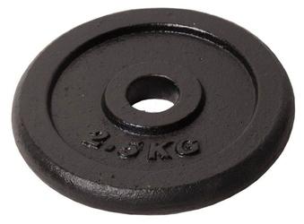 Obciążenie żeliwne czarne 2,5kg