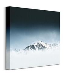 Góra we mgle - obraz na płótnie