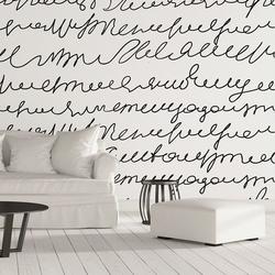 Napisy odręczne - designerska tapeta ścienna , rodzaj - tapeta flizelinowa laminowana