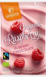 Landgarten | liofilizowane maliny w owocowej czekoladzie | gluten free - organic - fairtrade