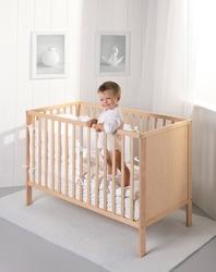 Łóżeczko dziecięce eco panel 120x60 troll nursery k. naturalny