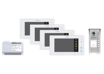 Wideodomofon 4-rodzinny VIDOS DUO 4 x M1021W  S1104A - Szybka dostawa lub możliwość odbioru w 39 miastach