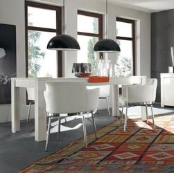 Amaretto włoski biały stół 180x90cm wysoki połysk