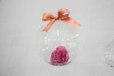 Szklana kula dekoracyjna ozdobna do zawieszania altom design średnica 17 cm
