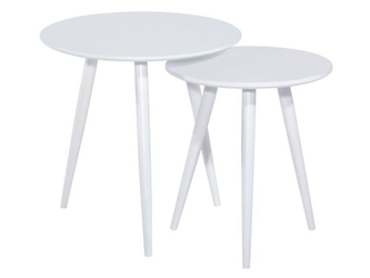Zestaw stolików loeco biały
