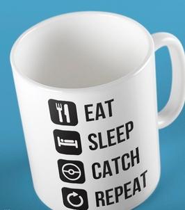 Eat sleep catch repeat kubek biały universal