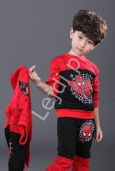 Spider man dres dla chłopca trzy częściowy, spodnie+bluza+kamizelka 0252