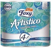 Foxy, artistico, biały, papier toaletowy, 4 sztuki