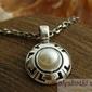 Doria - srebrny wisiorek z perłą