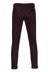 Spodnie męskie śliwkowe typu chino 54
