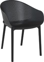 Krzesło sky z podłokietnikami czarne - czarny