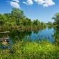 Obraz na płótnie canvas dwuczęściowy dyptyk letni krajobraz