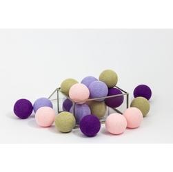 Świecące kule cotton balls girl love