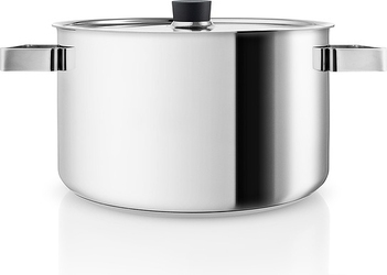 Garnek stalowy nordic kitchen z czarnymi uchwytami 6 l