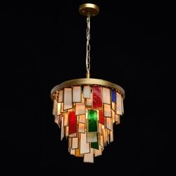 Lampa wisząca szkło witrażowe marocco regenbogen megapolis 185011106