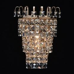 Kinkiet kryształowy, chromowana na złoto podstawa adelard mw-light crystal 642022901