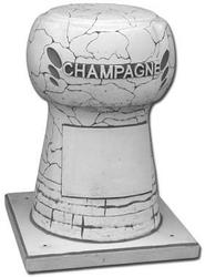 Dekoracja betonowa, korek champagne z podstawą 87cm