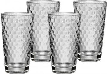 Szklanki do latte macchiato ze strukturą plastra miodu 4 szt.
