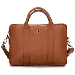 Skórzana torba na laptopa felice gold fg04 brązowy vintage - brązowy vintage