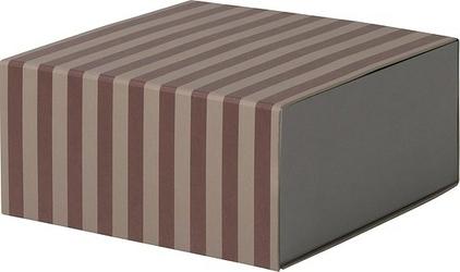 Pudełko w paski Ferm Living głębokie czerwone