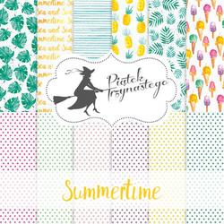 Ozdobny papier Summertime - zestaw 30,5x30,5 cm