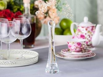 Wazon szklany na kwiaty z łezką edwanex 20 cm