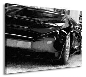 Czarna bestia sport car - obraz na płótnie