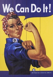 Rosie The Riveter - obraz na drewnie