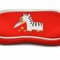Etui futerał na okulary dla dzieci czerwone z zebrą sc-10c