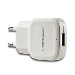 Qoltec Ładowarka sieciowa 12W | 5V | 2.4A | USB | Biała