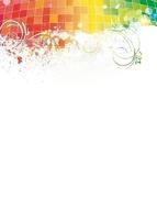 Kolorowe wzory tablica suchościeralna magnetyczna 099