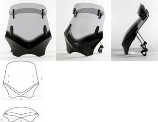 Szyba mra przyciemniana typ vfvtc uniwersalna do motocykli bez owiewek