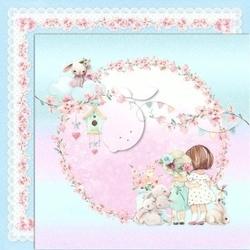 Papier ozdobny 30x30 cm girls little world 03 - 03