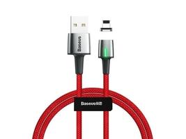 Kabel magnetyczny baseus zinc usb lightning 2m 1.5a red - czerwony