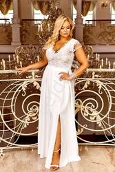 Ślubna delikatna sukienka z koronką  chantell