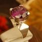 Rodolfo - srebrny pierścionek z ametystem