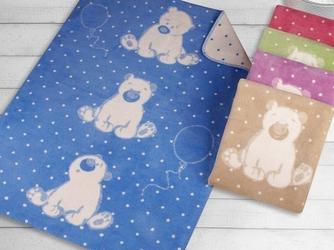 Kocyk dla dzieci sweet bear greno, 5 kolorów niebieski 100 x 150