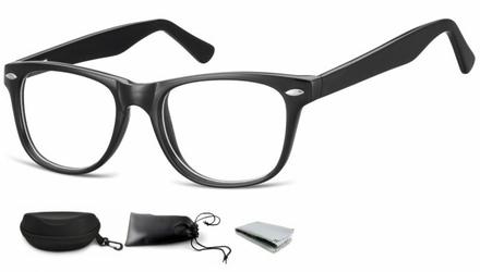 Okulary oprawki zerówki korekcyjne nerdy flex sunoptic ac15 czarne