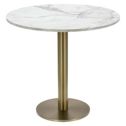 Stół okrągły corby ii 80cm hpl marmurbiały