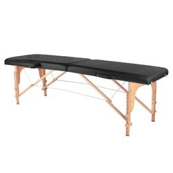 Stół składany do masażu wood komfort 2 segmentowe black